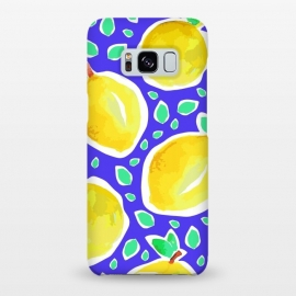 Galaxy S8+  Lemon Crush Blue by MUKTA LATA BARUA (summer, fresh, fruit, food,lemon)