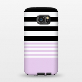 Galaxy S7  pink black stripes by Vincent Patrick Trinidad