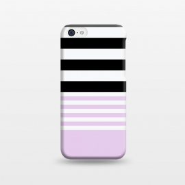 iPhone 5C  pink black stripes by Vincent Patrick Trinidad
