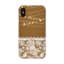 iPhone X  String Lights & Lace by Quirk It Up