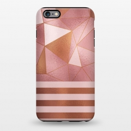 iPhone 6/6s plus  Abstract Metallic Rose Gold by Quirk It Up