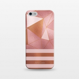 iPhone 5/5E/5s  Abstract Metallic Rose Gold by Quirk It Up