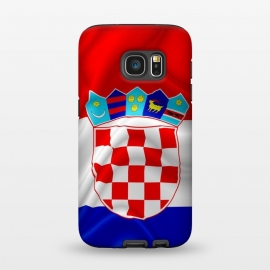 Galaxy S7  Croatia Flag Waving Digital Silk Satin Fabric  by BluedarkArt (Croatia, flag, Croatia flag, vector, Europe, country, patriotic, illustration, red, white, blue, emblem, Croatia emblem, East Europe, nation, national, design, symbol, patriotism, Croatian, Digital art, Digital silk, digital fabric effect, textile, texture, wind, silk, satin, waving, background)