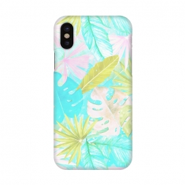 iPhone X  Soft Pastel Aloha Tropical Jungle by Utart