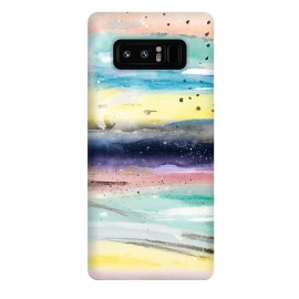 Galaxy Note 8  Summer watercolor abstract art design by InovArts