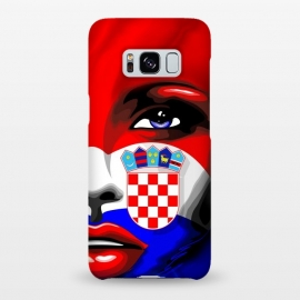 Galaxy S8+  Croatia Flag Beautiful Girl Portrait by BluedarkArt