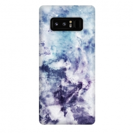 Galaxy Note 8  Blue purple marble by Jms