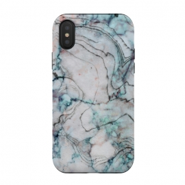 iPhone Xs / X  Marble Texture by Utart (Stylish, Ombre, Girly, Marble, Marbled, Nature, Texture, Geode, Terrazzo, Metallic, Scandi, Bohemian, Boho, Scandinavian ,stone, crystal, quartz, gemstone, gem, granite, shimmer, shimmery, shiny ,metallic,trendy girly, simply, simple, glitter, chrystal, ink ,malachite, agate, metal, foil ,summer, sp)
