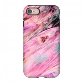 iPhone 8/7  Pink and Black Ink Marble by Utart