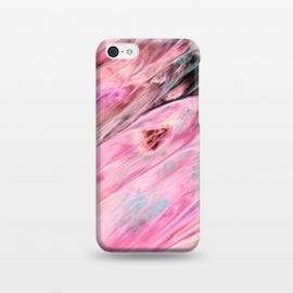 iPhone 5C  Pink and Black Ink Marble by Utart