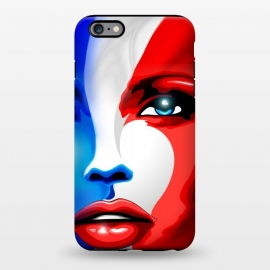 iPhone 6/6s plus  France Flag Beautiful Girl Portrait by BluedarkArt