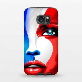 Galaxy S7  France Flag Beautiful Girl Portrait by BluedarkArt (France, France flag, French, french girl, beautiful girl, model girl, white, red, blue, beautiful girl portrait, portrait, face, sensual girl, France colors, golden eyes, patriotic, country, nation, Europe, symbol, emblem, French emblem, French pride, France lovers, French woman, French girl, beauty)