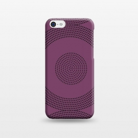 iPhone 5C   Dotted Circles Purple by ArtPrInk