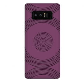 Galaxy Note 8   Dotted Circles Purple by ArtPrInk