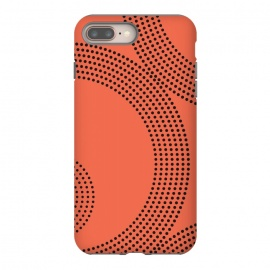 Dotted Circles Tangerine Orange by ArtPrInk
