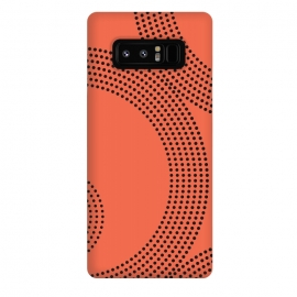 Galaxy Note 8  Dotted Circles Tangerine Orange by
