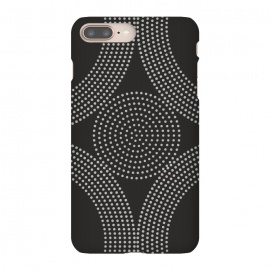 iPhone 8/7 plus   Dotted Circles Black & White by ArtPrInk