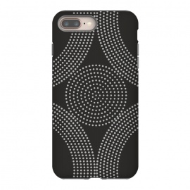Dotted Circles Black & White by ArtPrInk