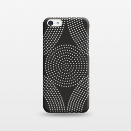 iPhone 5C   Dotted Circles Black & White by ArtPrInk