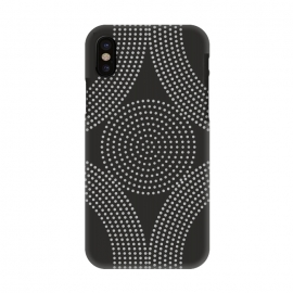 iPhone X   Dotted Circles Black & White by ArtPrInk