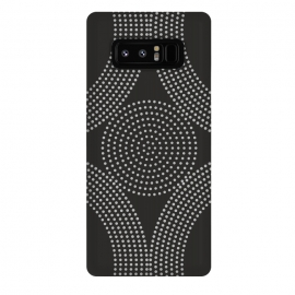 Galaxy Note 8   Dotted Circles Black & White by