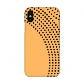 iPhone X   Dotted Circles Yellow Mango by ArtPrInk
