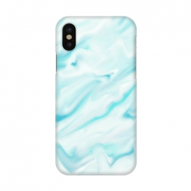 iPhone X  Mint blue abstract paint by Jms