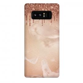 Galaxy Note 8  Copper Glitter Rain by
