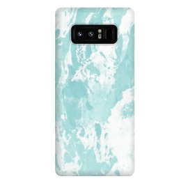 Galaxy Note 8  Mint blue abstract by