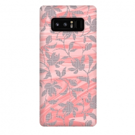 Galaxy Note 8  Marbled floral by