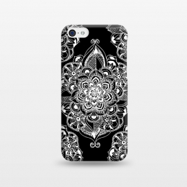 iPhone 5C  Black & White Graphic Mandala Diamonds by Tangerine-Tane