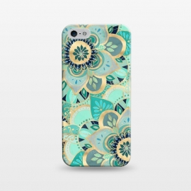 iPhone 5/5E/5s  Emerald and Gold Mandalas by Tangerine-Tane