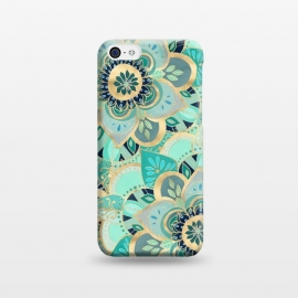 iPhone 5C  Emerald and Gold Mandalas by Tangerine-Tane