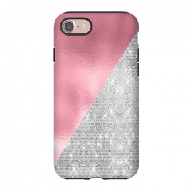 iPhone 8/7  Pink Silver Glitter  by Alemi