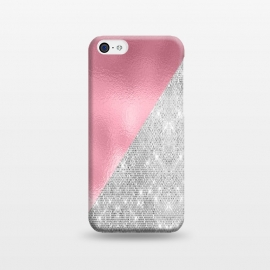 iPhone 5C  Pink Silver Glitter  by Alemi