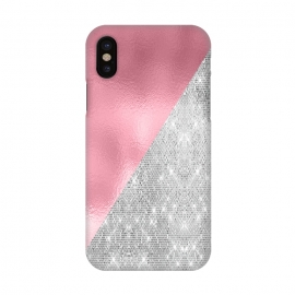 iPhone X  Pink Silver Glitter  by Alemi
