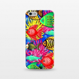 iPhone 5/5E/5s  Fish Cute Colorful Doodles  by BluedarkArt