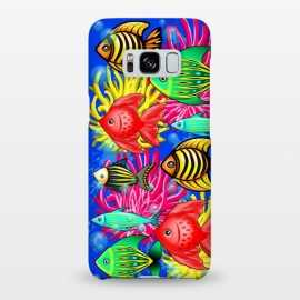 Galaxy S8+  Fish Cute Colorful Doodles  by BluedarkArt