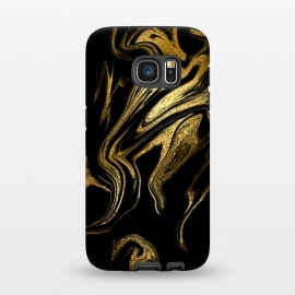 Galaxy S7  Gold Black Marble  by Alemi