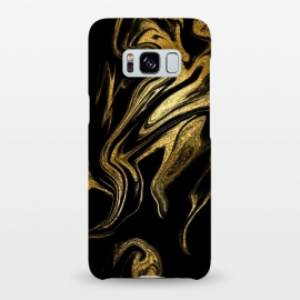 Galaxy S8+  Gold Black Marble  by Alemi