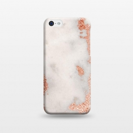 iPhone 5C  Gold Rose Marble by Alemi