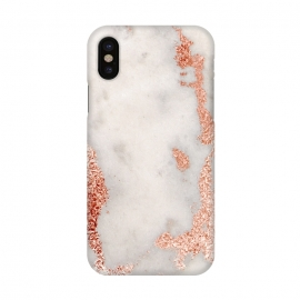 iPhone X  Gold Rose Marble by Alemi
