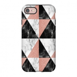 iPhone 8/7  Marble Triangles Geometric by Alemi