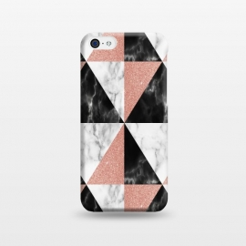 iPhone 5C  Marble Triangles Geometric by Alemi