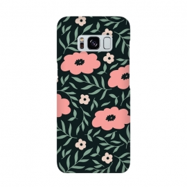Galaxy S8  Dark Blush Flowers by ArtPrInk