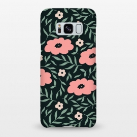 Galaxy S8+  Dark Blush Flowers by ArtPrInk