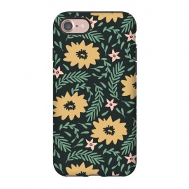 iPhone 8/7  Dark Gold Flowers by ArtPrInk