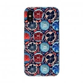 iPhone X  Moody Polka Dot Floral  by Tigatiga