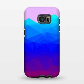 Galaxy S7 EDGE  blue shaded triangle pattern by MALLIKA
