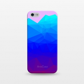 iPhone 5/5E/5s  blue shaded triangle pattern by MALLIKA